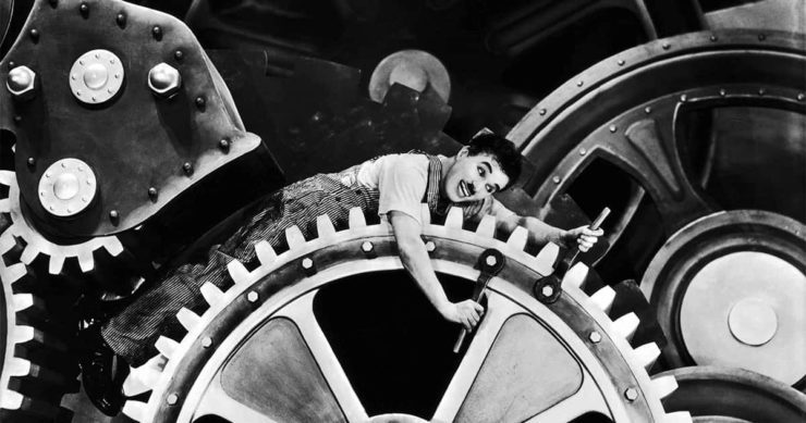 Chaplin trabalhando