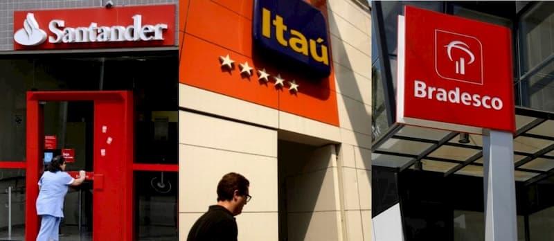 Santander, Bradesco e Itaú - Bancos Privados